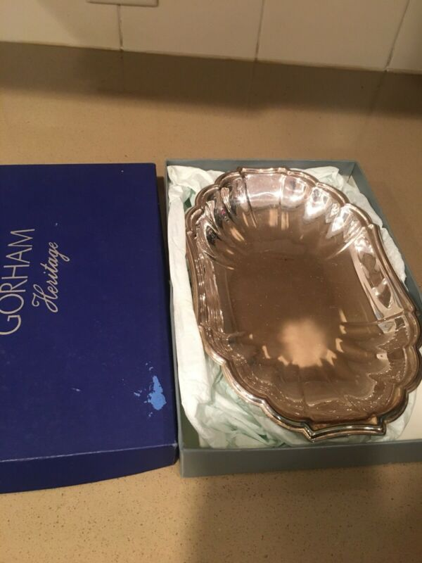 Small Silver Plated Tray, Gorham Heratige