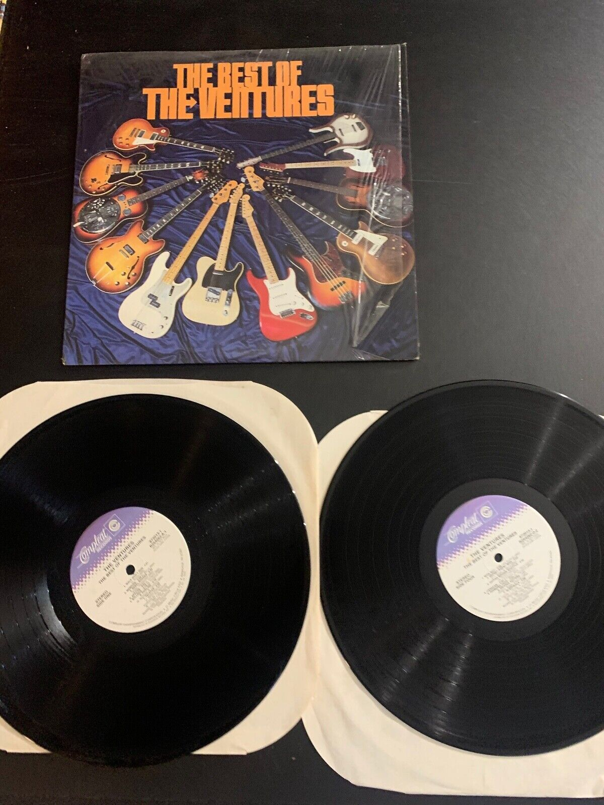 LP RECORD - THE VENTURES - THE BEST OF - 2 LPS - COMPLEAT RECORDS - $9.99