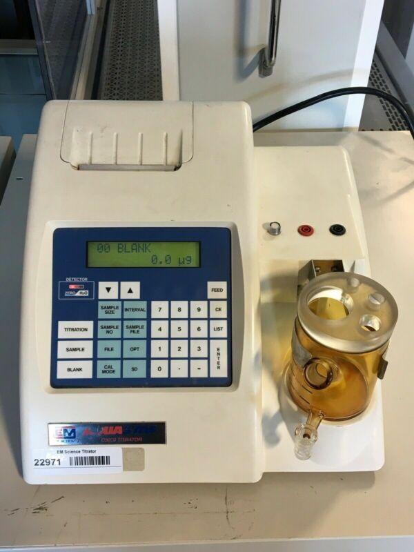 EM Science AquaStar C-3000 Karl Fischer, Coulometric Titrator
