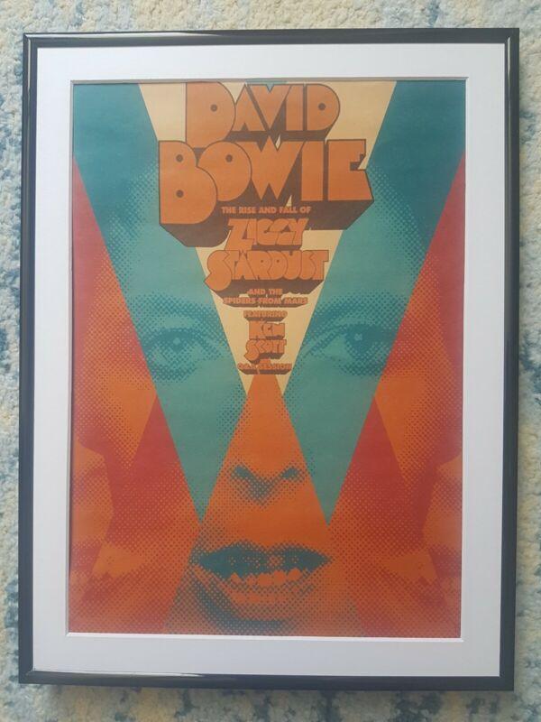 "DAVID BOWIE POSTER FRAMED 16""x12"""