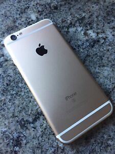 iPhone 6S 64gb Gold with glass screen protector and case