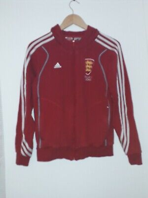 Vintage Adidas Red Top Size 32/34 England Hockey ST0592