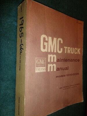 1965 1966 GMC TRUCK SHOP MANUAL / NICE ORIGINAL PICKUP SUBURBAN PANEL TRUCK BOOK