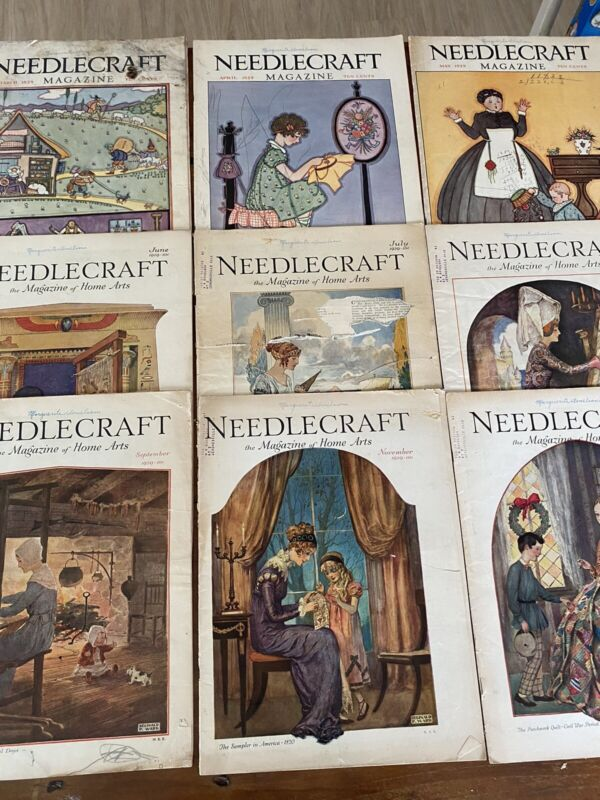 Needlecraft Magazine 1929 Issues #9Total Great Vintage Graphics