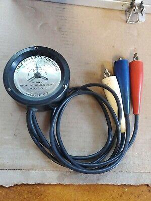 Vintage Western Electro-mechanical Co. Phase Rotation Indicator Catalog No. 4600