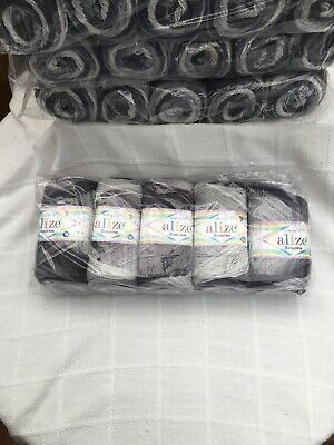 Alize Bebe Batik Dk Knitting Wool/yarn 500 Gr 5 Balls Multi Coloured...