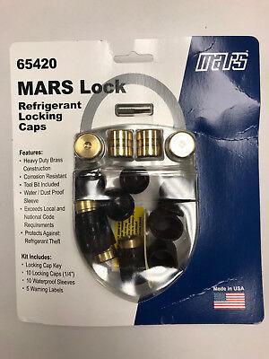 Mars Lock Universal Refrigerant Locking Caps 14 10 Pack With Covers Key