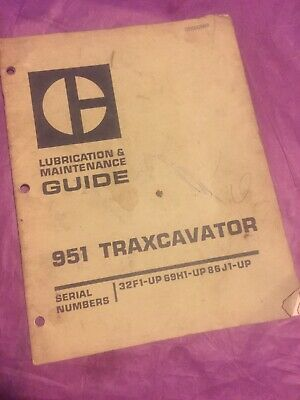 Cat Caterpillar 951 Traxcavator Lubrication Maintenance Manual 32f 69h 86j Book