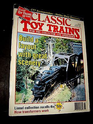 Classic Toy Trains Magazine January 1997 10 years layout great scenery Lionel !