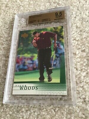 Tiger Woods 2001 Upper Deck Rookie Card BGS 9.5 inc a 10 Subgrade Lot H