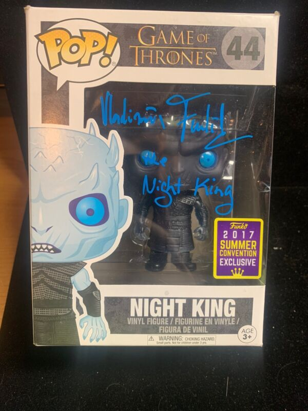 Vladimir Furdik Signed Funko Pop Figure Game of Thrones Night King Beckett COA