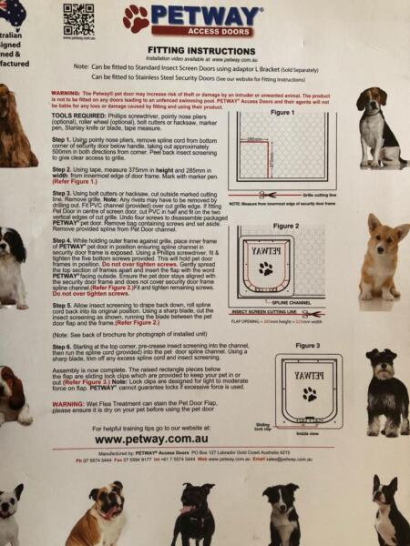 Petway Dog Door Small Pet Products Gumtree Australia Brisbane
