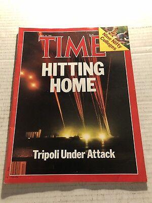 1986 TIME Magazine REAGAN Bombs TRIPOLI Libya MUAMMAR GADDAFI No Label ATTACK