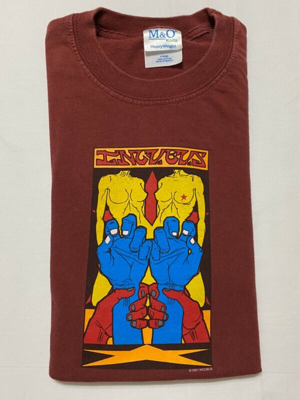 VTG 2001 Incubus Rock Band Pacific West 2 Side Shirt XL Y2K Double Sided Vintage