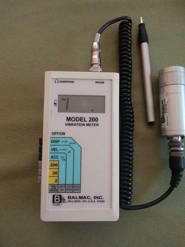 BALMAC 200 vibration meter