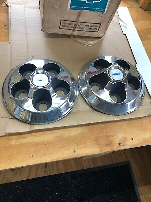 1969 Chevy Camaro Gm Wheel Covers In Box Nos Set Of 4