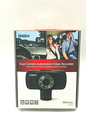 Uniden DC115 Dual Camera Automotive Video Recorder, Dash Camera - Black