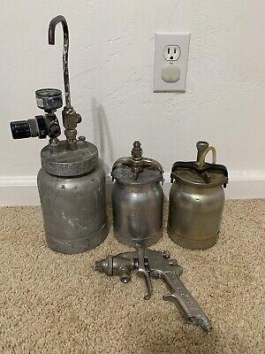 Package Deal Binks Paint Spray Gun Binks Pressure Model 80-228 1 Qt Tanks