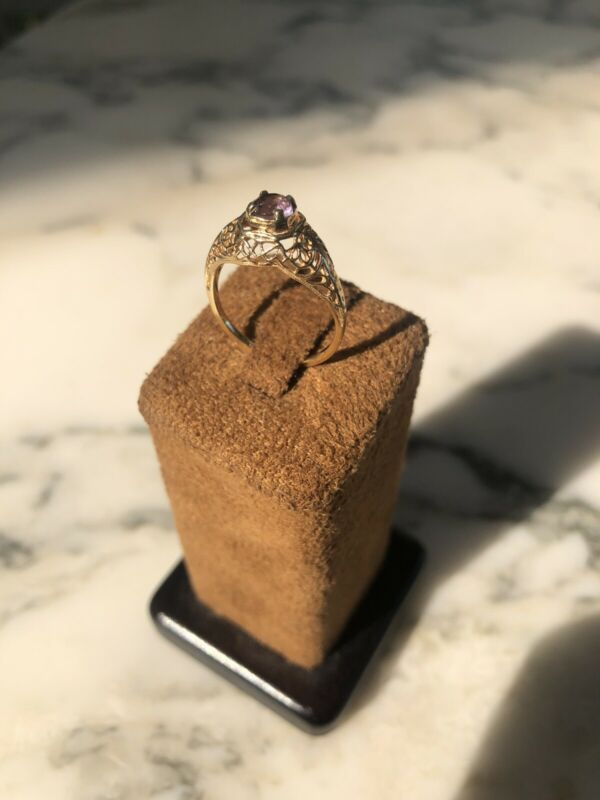 Estate Victorian Ring Amethyst and 14kt Gold