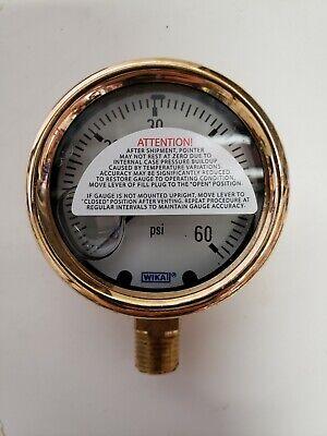 Wika Liquid Filled 2.5 Pressure Gauge 0-60psi - 14 Thread