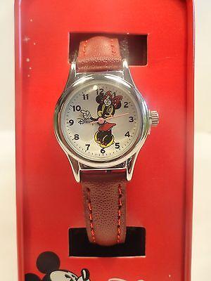 Disney Minnie mouse leather band watch, Quartz. new/ Box/ warranty