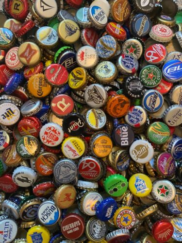 1000+ ASSORTED (70+ Different) BEER BOTTLE CAPS Many Colors!!!