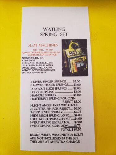 WATLING REPLACMENT SPRING SET WATLING ANTIQUE SLOT MACHINE MADE IN USA