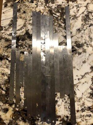 Starrett Thickness Gage Stock Metal Ruler Blocks 0.016 Precision Tools 0.010