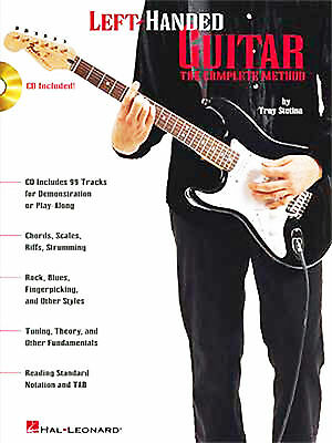 LEFT HANDED GUITAR THE COMPLETE METHOD HAL LEONARD + CD