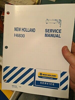 New Holland Service Manual H6830 Discbine Mower Conditioner