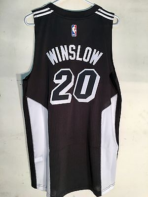 Adidas Swingman 2015-16 NBA Jersey Heat Winslow Black Fashion sz S