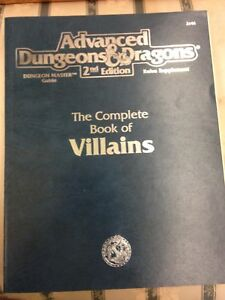 Advanced dungeon and dragons 2nd edition villains book