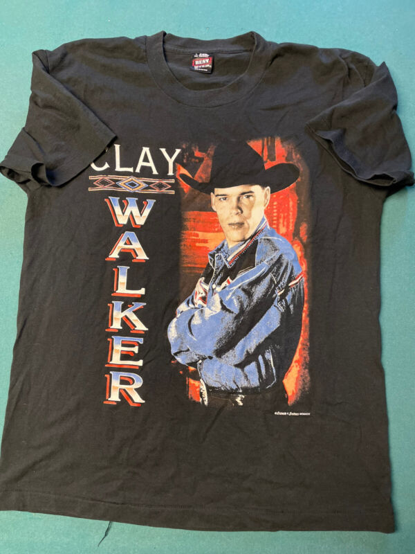 Vintage 1995 Single Stitch Clay Walker Hypnotize The Moon Tour T-shirt Men