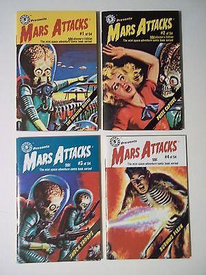 Mars Attacks Mini Comic Books - Vol 1 through 4