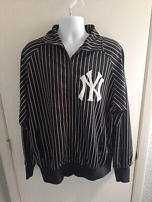 Mens Stitches New York Yankees Zip Up Pinstripes Jacket Size XL EUC