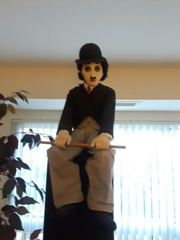 Antique Charlie Chaplin Doll 28 In Tall