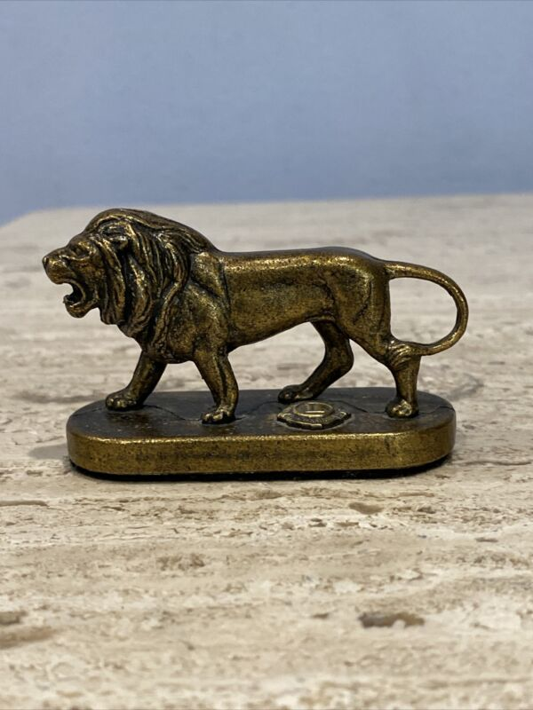 "Lions Club International  Brass Or Bronze Lion, Stunning 3"" Piece."