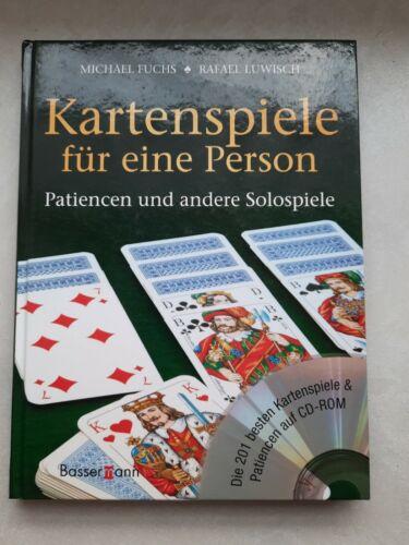 """"""" Kartenspiele für eine Person """" Patiencen und andere Solospiele   CD-ROM"""