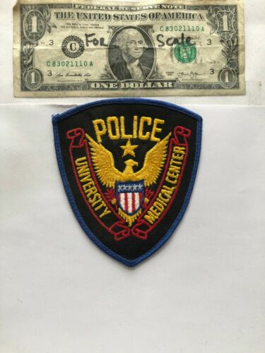 University Medical center Mississippi Police Patch Un-sewn great condition