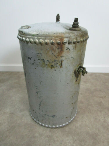 Vintage Steel Riveted Boiler Air Tank Rat Rod Gas Industrial Steampunk Antique