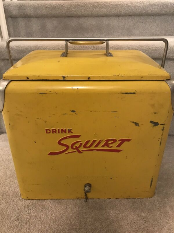 Vintage Squirt Cooler 1950's Embossed Metal Eigh Tray