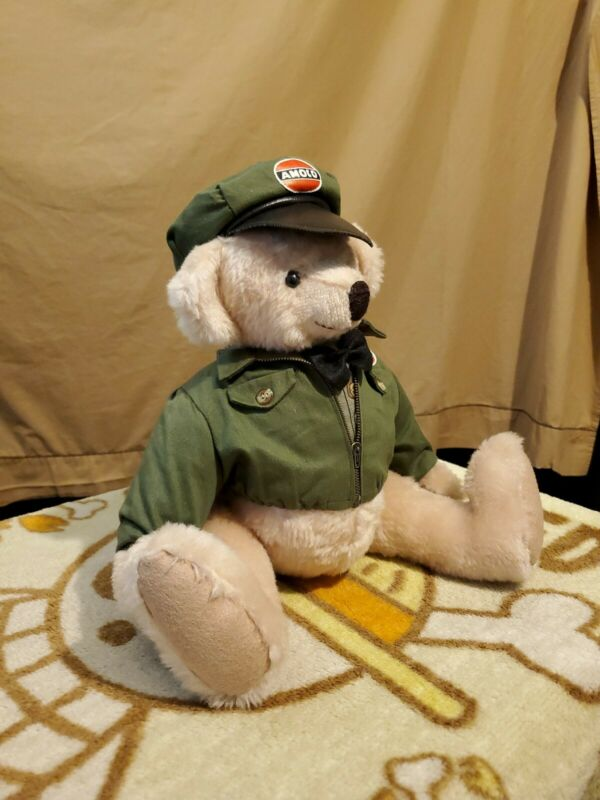 """1998 First Edition Approx 16"""" """"ANDY"""" Amoco Gas Station Bear"""