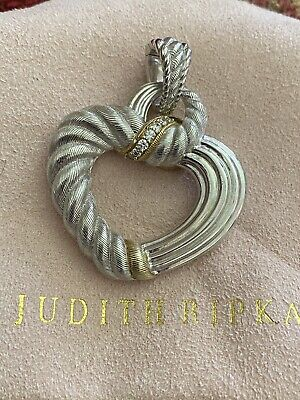 judith ripka Silver & 18ct Gold Pendent.