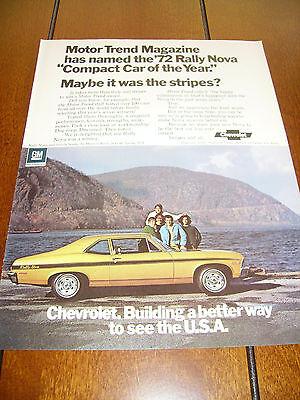1972 NOVA ***ORIGINAL VINTAGE AD*** RARE!!!!