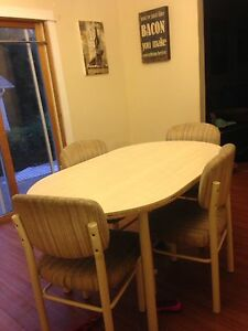 Free kitchen table and 4 chairs