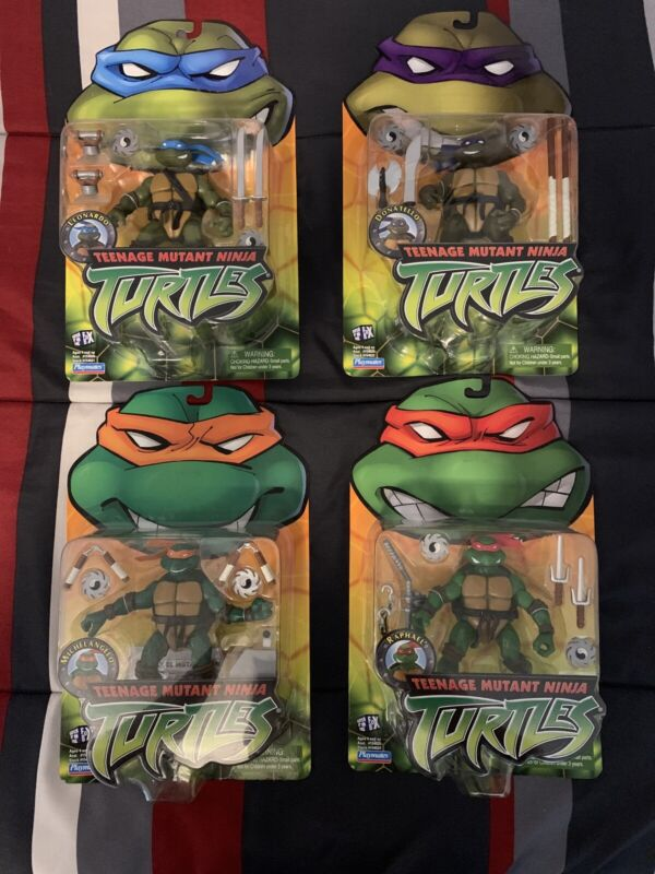 2002 Playmates Teenage Mutant Ninja Turtles Set Of 4