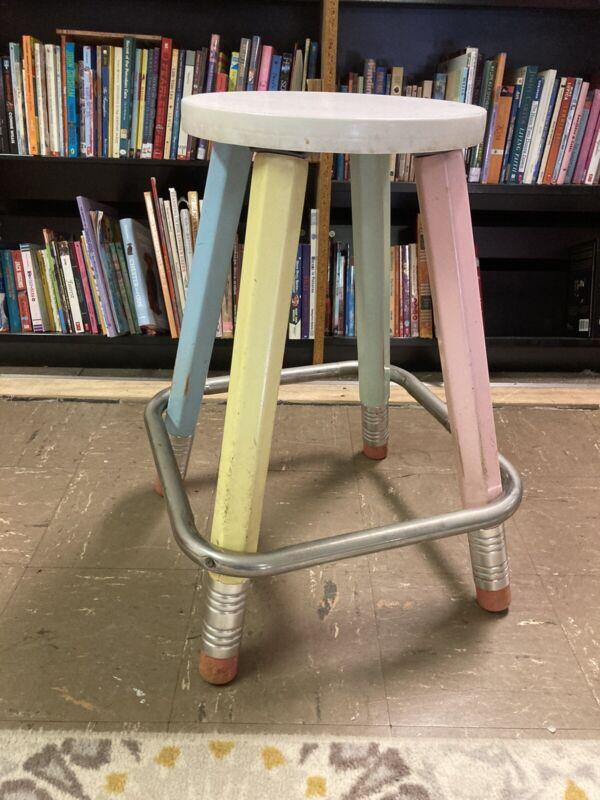 Vintage Pencil Plus Stool /furniture
