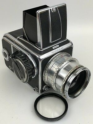 Hasselblad 1000F Medium Format Camera w/ 80mm F/2.8 Tessar Lens