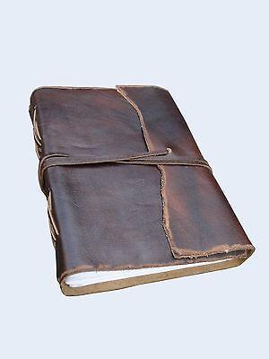 Antique Leather Journals - Antique Dark Brown Leather Journal Diary (Handmade)-Leather Coptic Bound 20% off