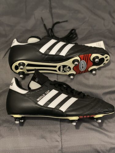 adidas Performance Men's World Cup Soccer Cleat,Black/White,